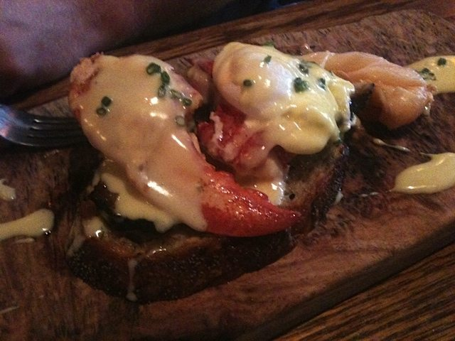 Lobster Benedict at Whalesbone for brunch