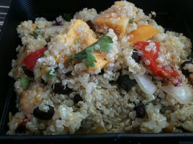 Colourful quinoa hits the spot.