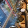 Stadtlander created this special spice rack to keep jars of essentials from rattling while the bus is on the road