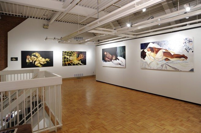 "A look inside Karsh-Masson Gallery during Maria Lezon's 2010 exhibition ""The Lounging Soap Opera."" Maria Lezon @ KM_2009-2010."