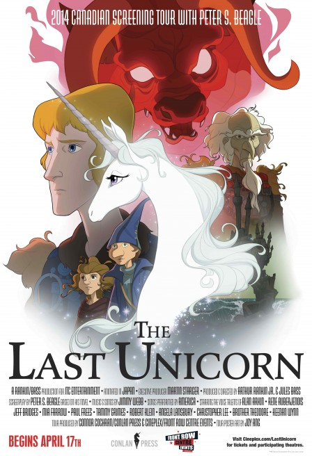 The Last Unicorn, remastered, screens in Ottawa, with author Peter S. Beagle speaking and signing books