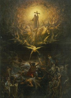Gustave Doré, The Triumph of Christianity over Paganism, 1868 Oil on canvas, 300 × 200 cm Art Gallery of Hamilton, Joey and Toby Tanenbaum Collection, 2002 (2002.33.18)