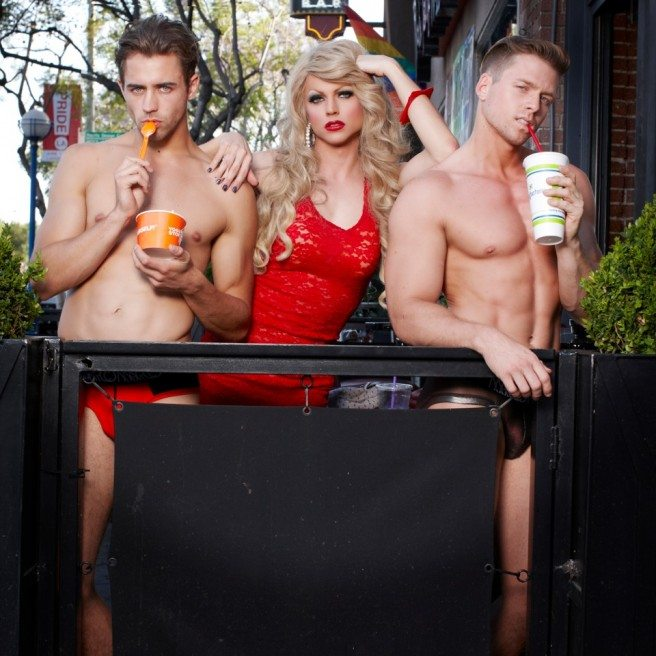 "Pop singer and Drag Gender-queer performer Courtney Act finds self-love with the song ""Mean Gays""  Photo Credit : Magnus Hastings"