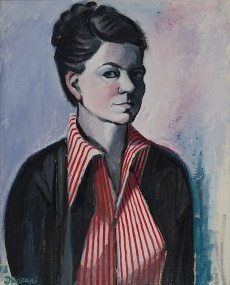 1958 - Self-Portrait with Red Stripes - Private Collection2