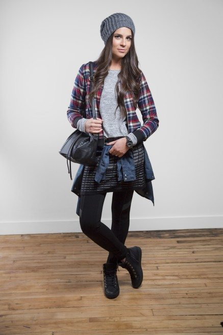 Erica Wark lays on the layers for a cute grunge look