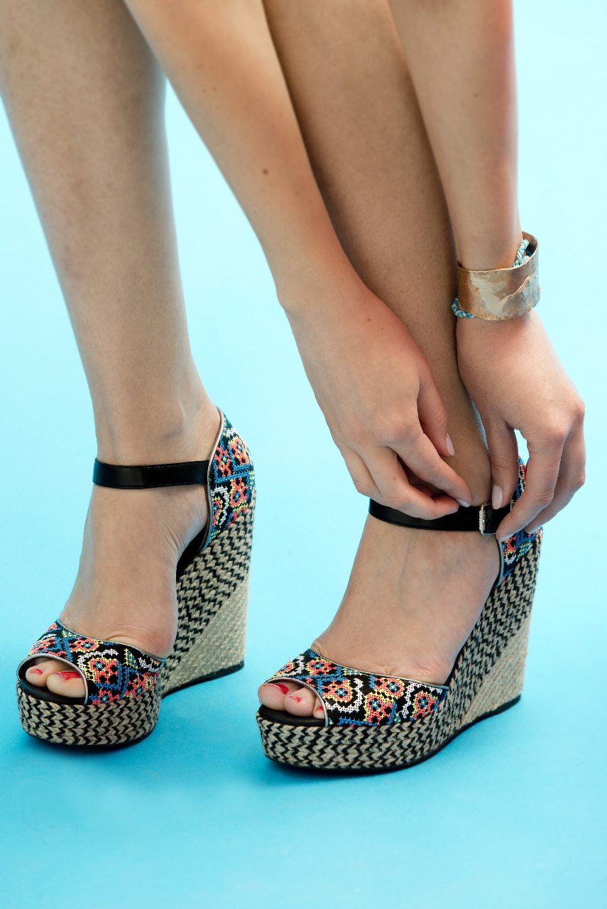 Kyla Clarke models Nordstrom shoes — and her mani-pedi by York Street Spa. Photo by Marc Fowler/Metropolis Studio