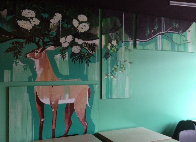 Picture this: Designed by bex of PLOTNONPLOT Architecture, the firm which designed The Rowan, the new mural was installed at the end of June.