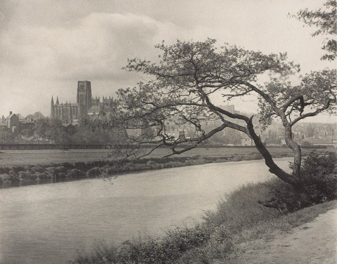 Frederick H. Evans<br /> Durham Cathedral from the Wear, c. 1896-1910<br /> platinum print, 18.9 × 23.9 cm.<br /> National Gallery of Canada, Ottawa<br /&